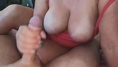Big tits milf russian talk handjob