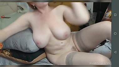 Sexy redhead mature foxy tail squirting