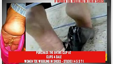 CLIPS4Sale Preview Crossed Ankle Toe Print Toe wiggling
