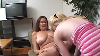 Anastasia dominated by young blonde