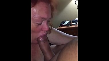 freckles mature give blowjob