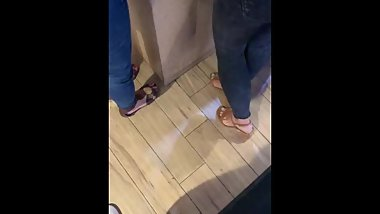 Mature Latina feet in sandals