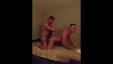 Hot older guy fucking young muscle guy