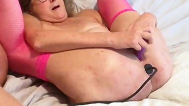 Mature Wife Dildos Wet Pussy While Husbands Inserts Buttplug