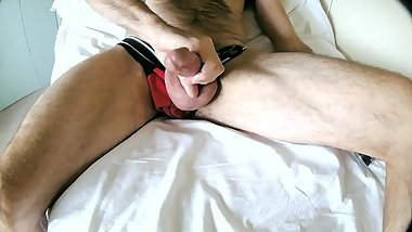 Mature English Uncut Blowing a Cloud and Getting Horny