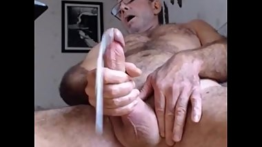 Grandpa having a wank
