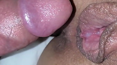 wife pushing her boyfriends cum out of her pussy, my turn
