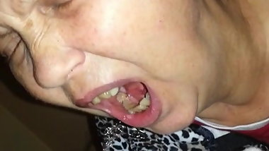 Pissing in my old whores mouth