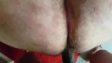 Chubby daddy getting bbc cock doggy style